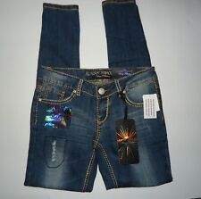Nwtjunior's Almost Famous Dark Wash Embellished Jeans Size: 3