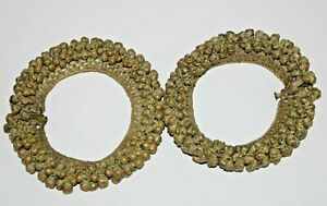 Early 19th Century bronze dance Lady foot belt pair for belle dance nice sounds