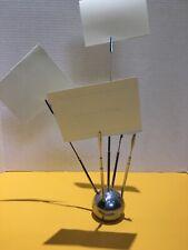 Retro Chrome Paperweightclip Holder Kirkland Mh10 For Memophotonotes Rare
