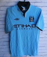 MANCHESTER CITY 2012 2013 HOME FOOTBALL SHIRT JERSEY UMBRO SIZE 34(S)