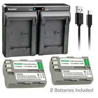 Kastar EN-EL3e Battery Pack + Charger for Nikon D700 D300 D200 D80 D90 D70s D50