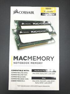 Corsair Mac Memory 8GB (2 x 4GB) PC3 8500 (DDR3-1066) Memory (CMSA8GX3M2A1066C7)