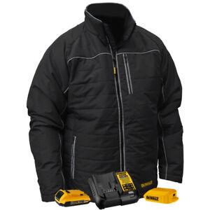DeWalt DCHJ075D1XL 20V MAX Black Mens Quilted/Heated Jacket w/ Battery-XL New