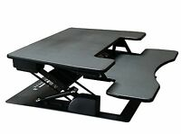 "Fancierstudio Riser Desk Standing Desk Extra Wide 38"" Fits Two Monitor Max He..."