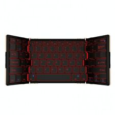 LED Wireless Bluetooth Foldable Pocket Keyboard for Apple iOS Android Windows