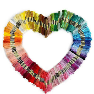 250Pcs Multi Colors Cross Stitch Cotton Embroidery Thread Floss Sewing Skeins