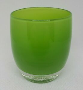 Glassybaby Lime Green Hand Blown Glass Votive Candle Holder. AS-IS