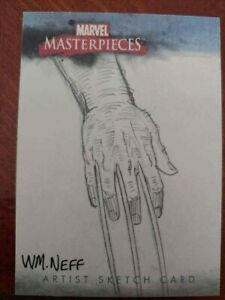 WOLVERINE ORIGIN SKETCH CARD 2007 MARVEL MASTERPIECES 1/1 SKYBOX COMIC KINGS