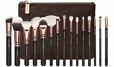 NEW 2016 Hot Sale 15Pcs Gold Makeup Brush Set Zipper Bag (UK STOCK)