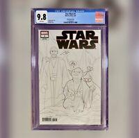 STAR WARS #1 Noto Sketch Variant CGC 9.8 NM+ 1 Per Store Exclusive Marvel Comic