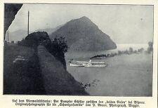 """Dampfer """"Schiller"""" auf dem Vierwaldstättersee Historische Aufnahme 1908"""