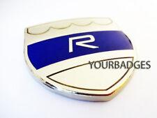 Enamel Chrome Blue Volvo R Car Badge C30 C70 S60