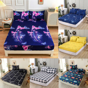 Queen Mattress Cover Fitted Bedsheet Dust Cover Fitted Sheet Quilt Cover