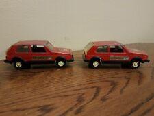 Vintage Tootsietoy Volkswagen Rabbit Diesel Toy Car Die Cast Red Decals Lot of 2