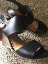 Old Navy Women Black Shoes Sandals Wedges Heels Boho Platform US 7 EUC