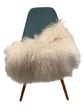 Premium réel monglische peaux de mouton mouton, d'agneau Mongol Sheepskin Blanc