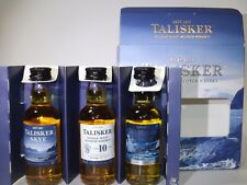 Talisker whisky Set 3 x 50 ml mini bouteilles Bottle miniature BOTTELA Storm Skye