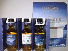 TALISKER Whisky Set 3 x 50 ml mini flaschen bottle miniature bottela STORM SKYE