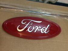 """2004-2015 FORD EDGE,F-150 CUSTOM PAINT EMBLEM,9""""GRILLE OR TAILGATE,RED & CHROME"""