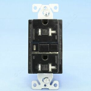 Cooper Black Tamper Resistant GFCI Outlet with Quick-Connect 5-20 20A TRVGF20BKM