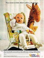 PUBLICITE ADVERTISING 045  1973  BEBE CONFORT   siège bébé