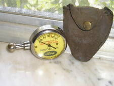 Vintage U.S. Model A Ford Tire Gauge and a nice used US Antique Pouch Tool Parts