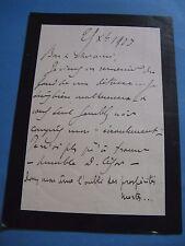 JULES TRUFFIER Autographe Signé 1923 COMEDIE-FRANCAISE THEATRE Condoléances