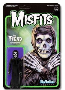 """THE MISFITS 'Midnight Black' Misfits Fiend 3.75"""" ReAction Figure Super7 SOLD OUT"""