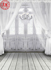 WHITE LIGHT WINDOW CURTAIN BACKDROP BACKGROUND VINYL PHOTO PROP 5X7FT 150x220CM