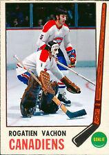 Custom made OPC 1969-70 Montreal Canadiens Rogie Vachon hockey card white