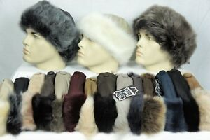 17 COLORS Sheepskin Shearling Leather Toscana Fur Beanie Round Bucket Hat S-2XL