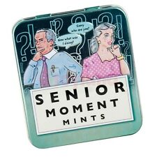 SENIOR MOMENT MINTS TIN OFFICE SECRET SANTA GIFT XMAS CHRISTMAS STOCKING FILLER