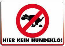 Kein Hundeklo ! Funschild Fun Schild Blechpostkarte Blechschild 10,5 x 14,8 cm