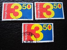 NORVEGE - timbre yvert et tellier n° 917 x3 obl (A30) stamp norway (A)