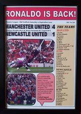 More details for manchester united 4 newcastle united 1 - 2021 - ronaldo is back - framed print