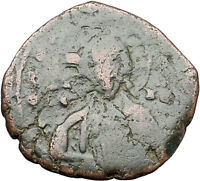JESUS CHRIST Class A2 Anonymous Ancient 1028AD Byzantine Follis Coin i47628
