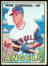 1967 TOPPS OPC O PEE CHEE BASEBALL #193 JOSE CARDENAL EX+ CALIFORNIA ANGELS CARD