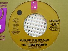 The Three Degrees 45 record When will I see you again vintage 1973