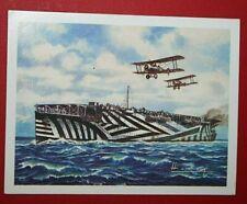 HMS ARGUS   Royal Navy Aircraft Carrier    Illustrated Colour Card # CAT C