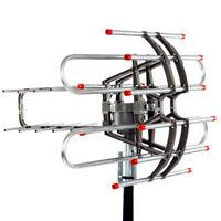 250 Miles Long Range HD Digital Antenna 360° Rotation Outdoor Antenna 4K 1080P