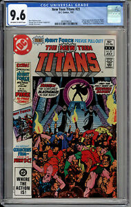 NEW TEEN TITANS 21 CGC 9.6 WHTIE PAGES FIRST APPEARANCE OF BARON BLOOD