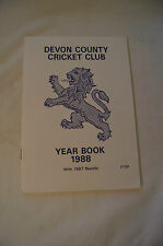Cricket Collectable - 1988 - Devon County Cricket Club - Year Book