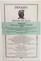 Vintage Menu Dinah's Palo Alto California Dinner De Luxe 65₵ Ca. Mid-1920-1930s