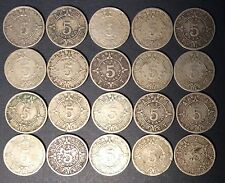 Mexico 5 Centavos 1936 1937 1940 1942 Coins Lot of 20