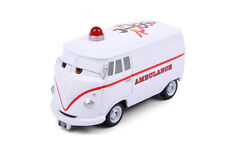 Disney CARS Fire Rescue Go! Go Fillmore Ambulance Diecast Tomica Tomy No Box