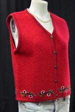 Charlevoix Ugly Christmas embellished winter Vest boiled wool coat SZ M NEW VTG