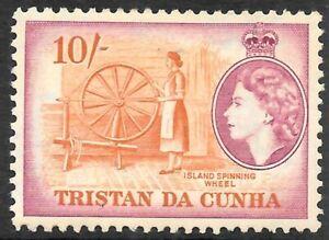 TRISTAN DA CUNHA 1954 10s brown-orange & purple, mint hinged. SG 26.