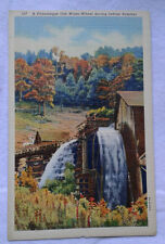 A Picturesque Old Water-Wheel Postcard during Indian Summer Autumn Mountains VTG