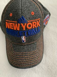 NY KNICKS BASKETBALL HAT ADIDAS FITTED CAP SIZE S/M FLEX FIT MSG NBA