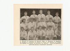 Denver Grizzlies 1906 Team Picture Babe Adams Pat Paige Stub Smith Ira Belden